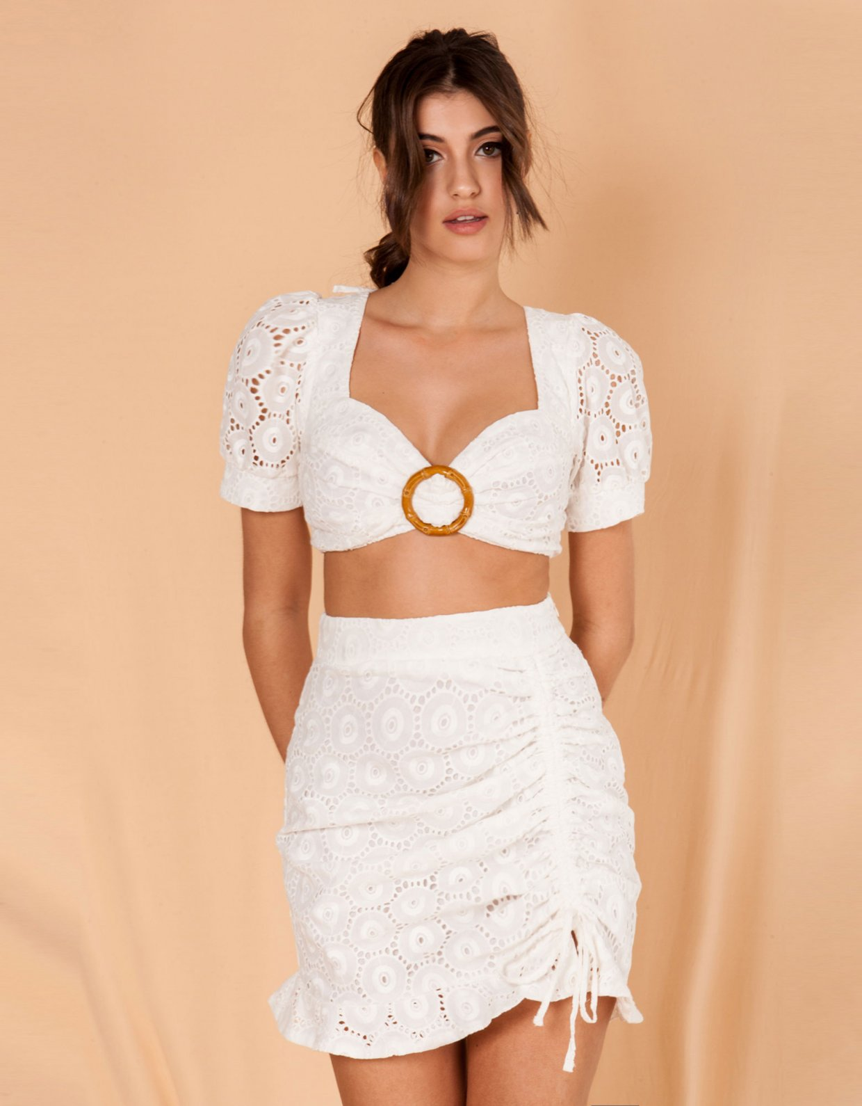 Mallory the label Dolce white top