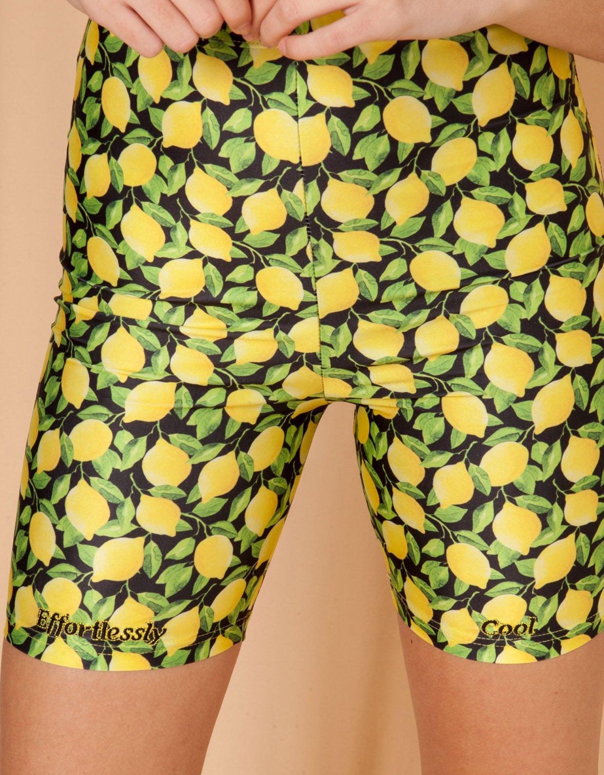Mallory the label Primavera lemons shorts