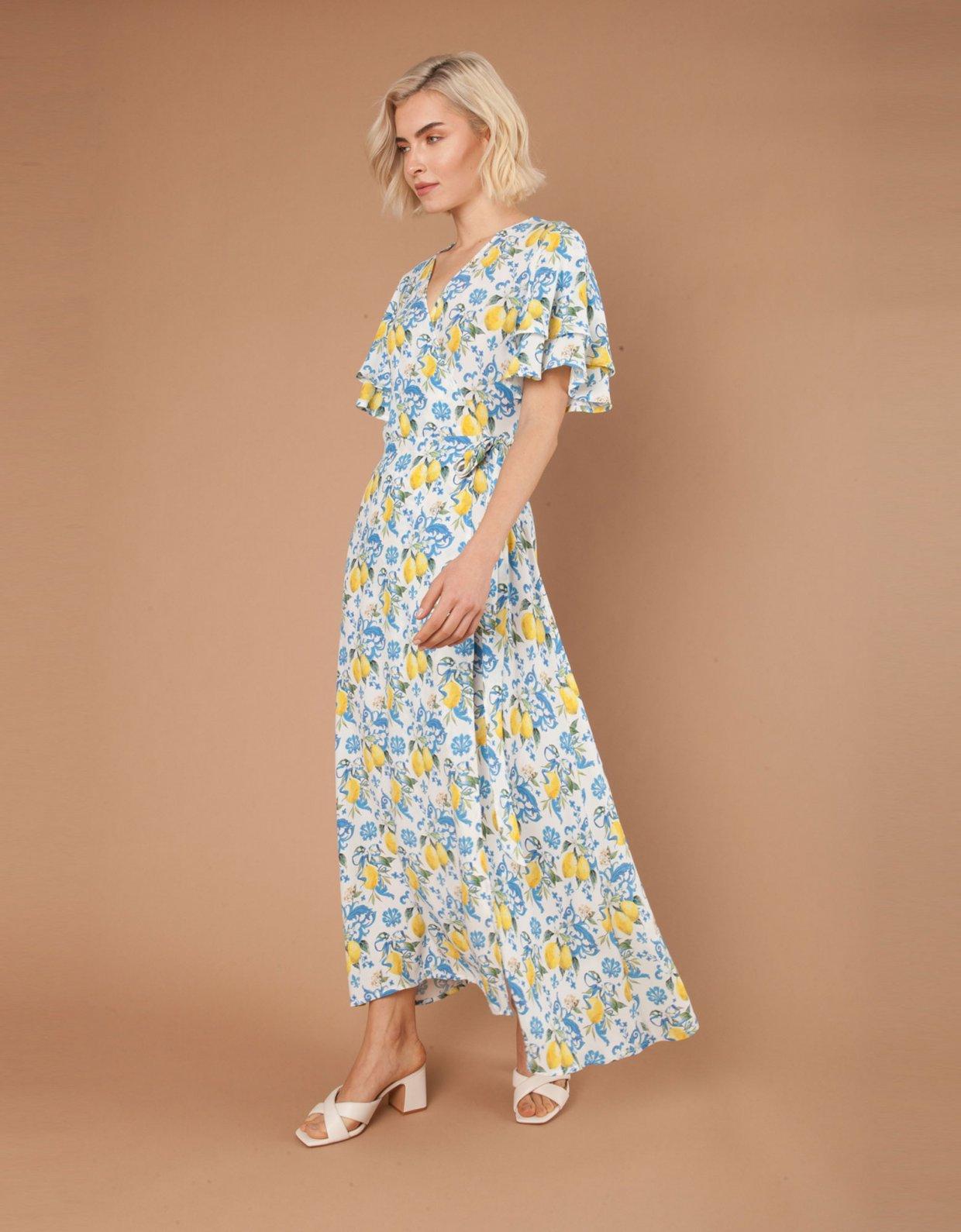 Mallory the label Vietri blue lemons dress