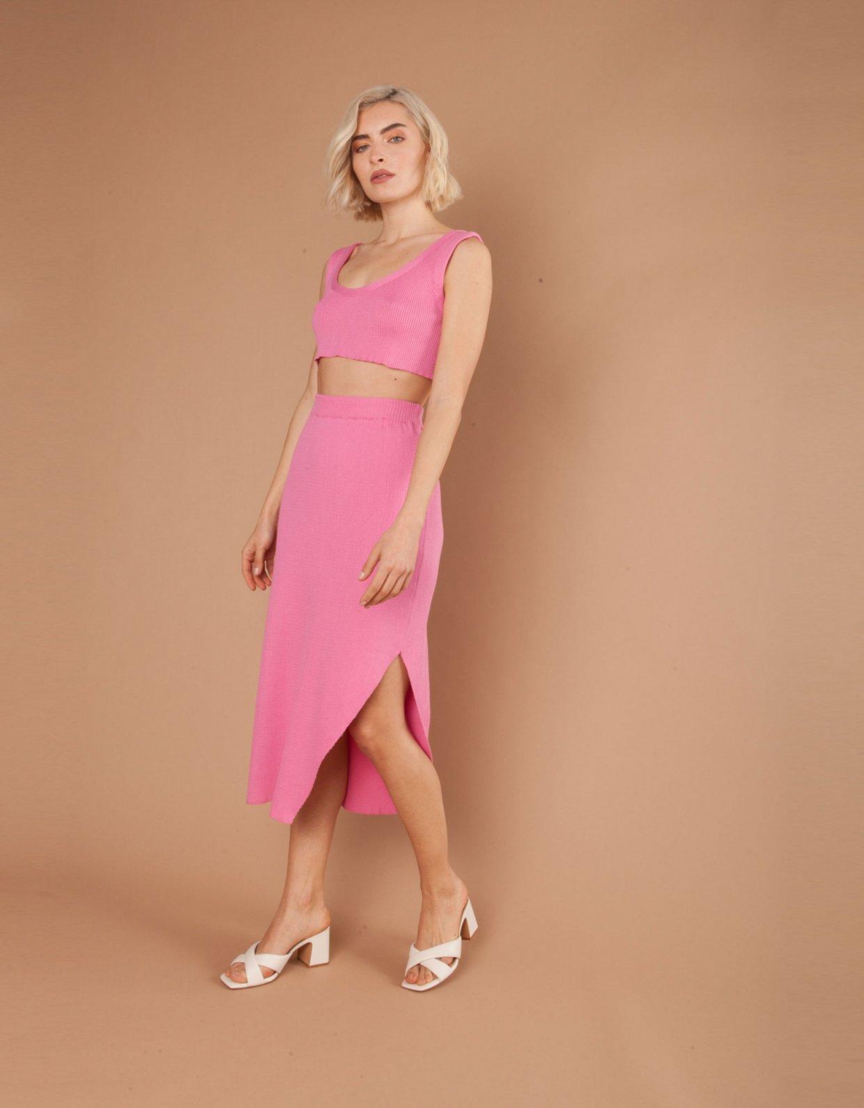 Mallory the label Manarola pink crop top