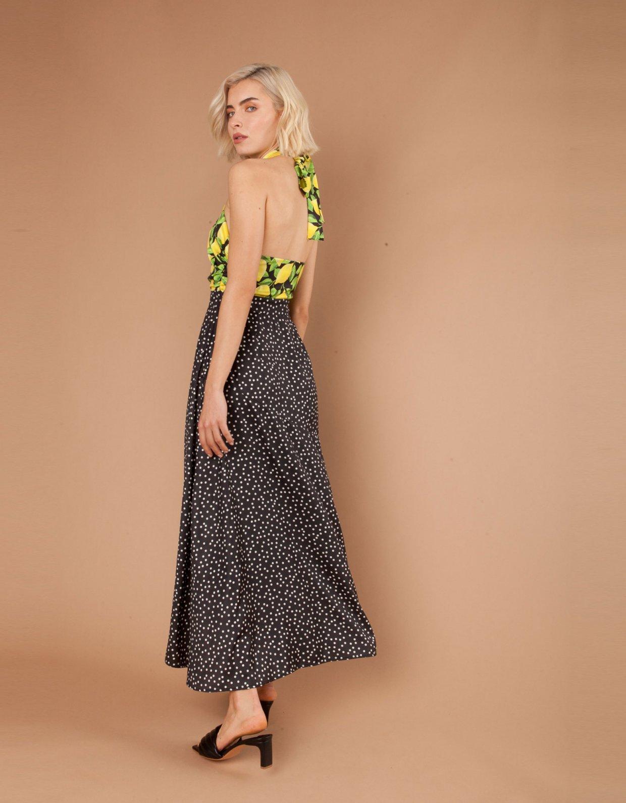 Mallory the label Salsa black/lemons dress