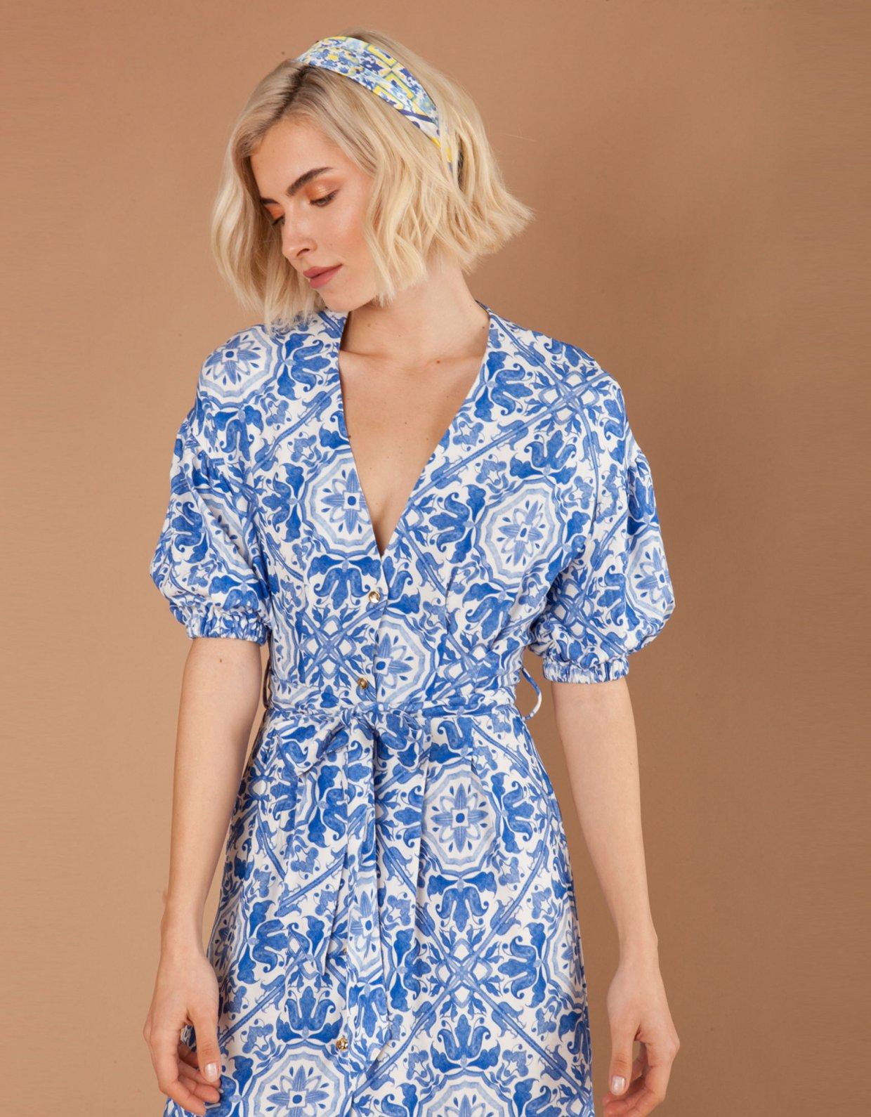 Mallory the label Puglia blue dress