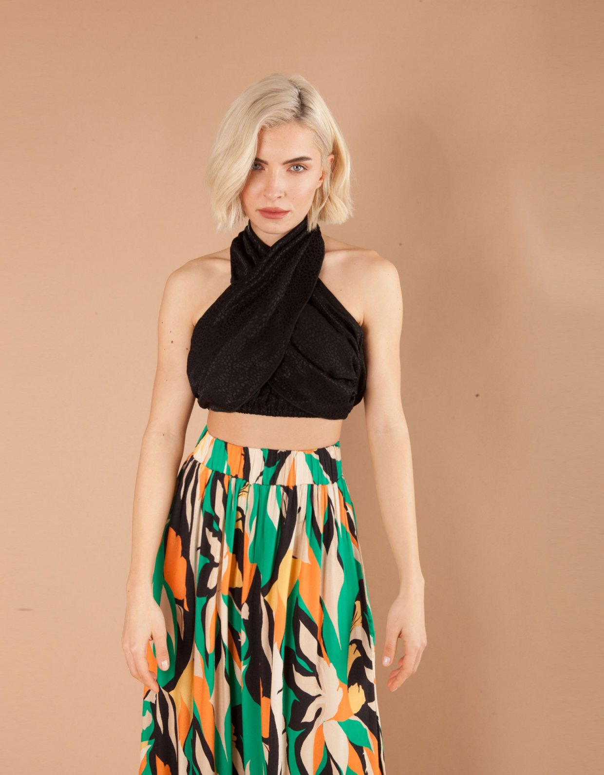 Mallory the label Namibia black crop top