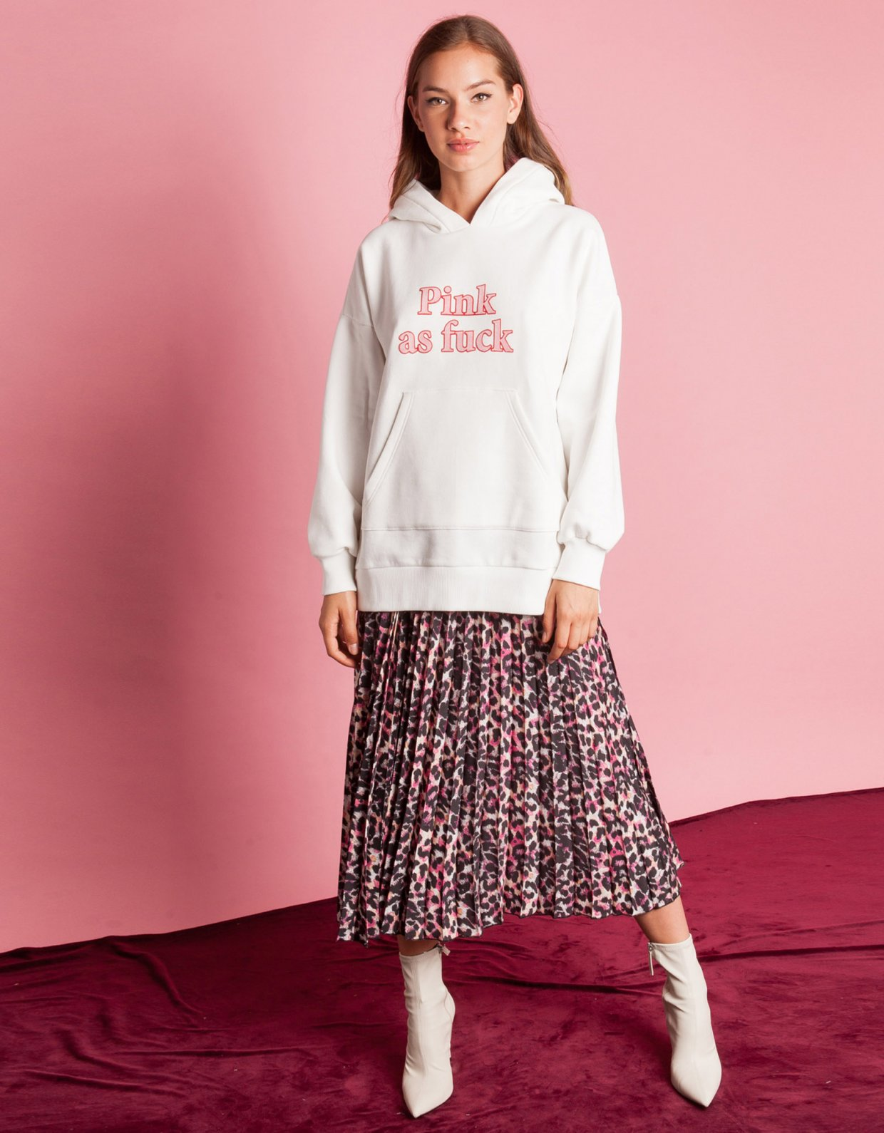 Mallory the label Pink as fuck hoodie