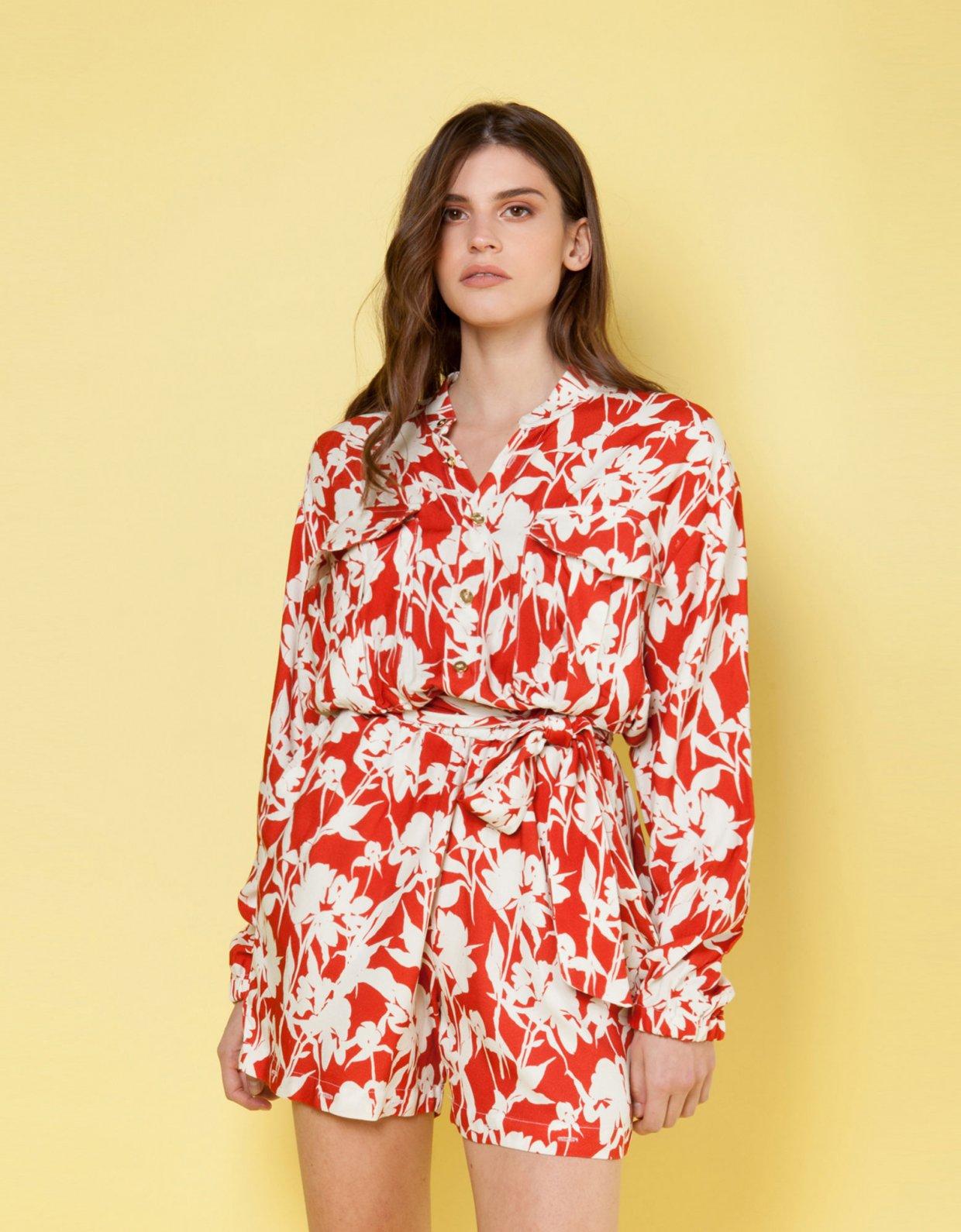 Mallory the label Bacio terracotta jumpsuit