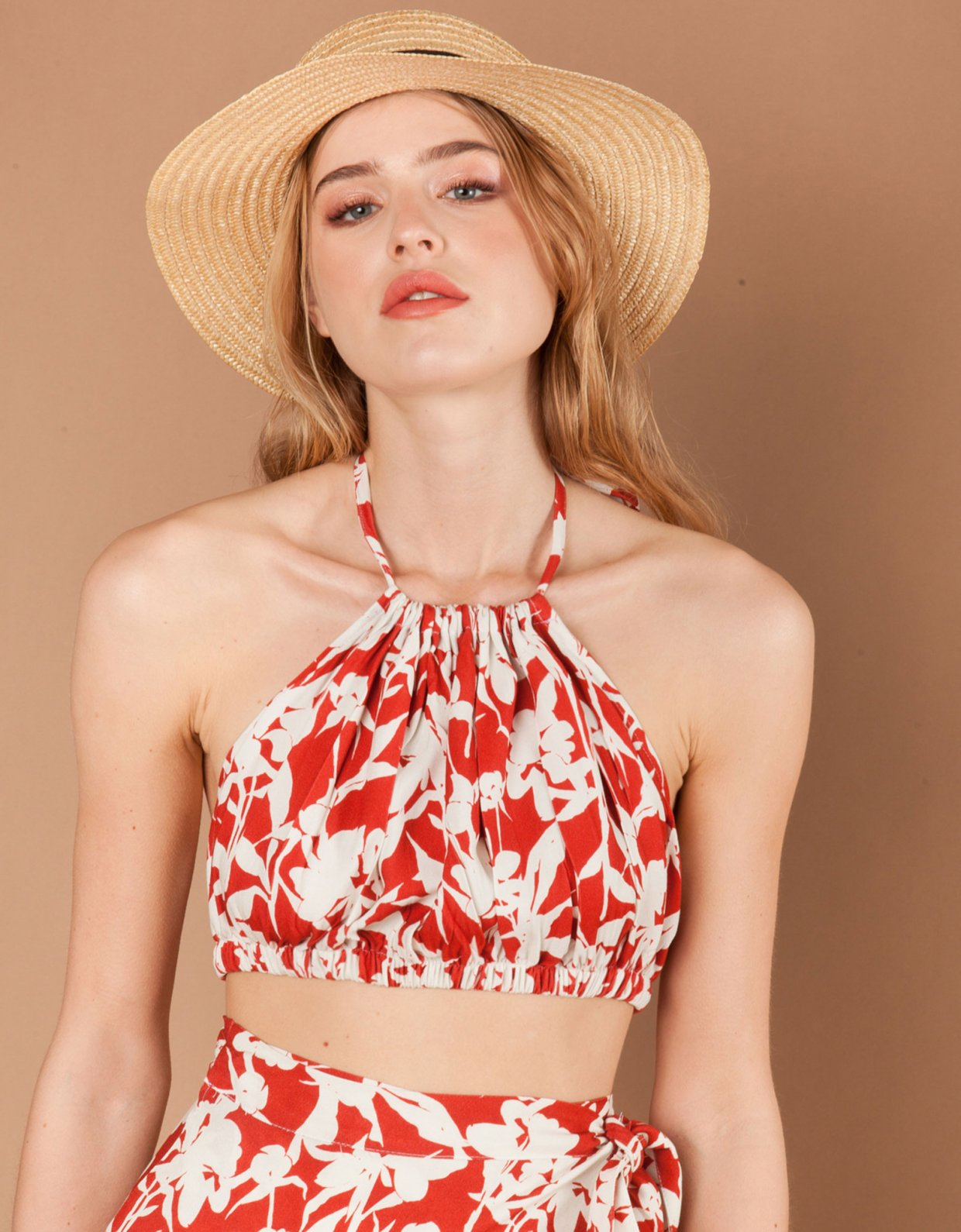 Mallory the label Luce terracotta top