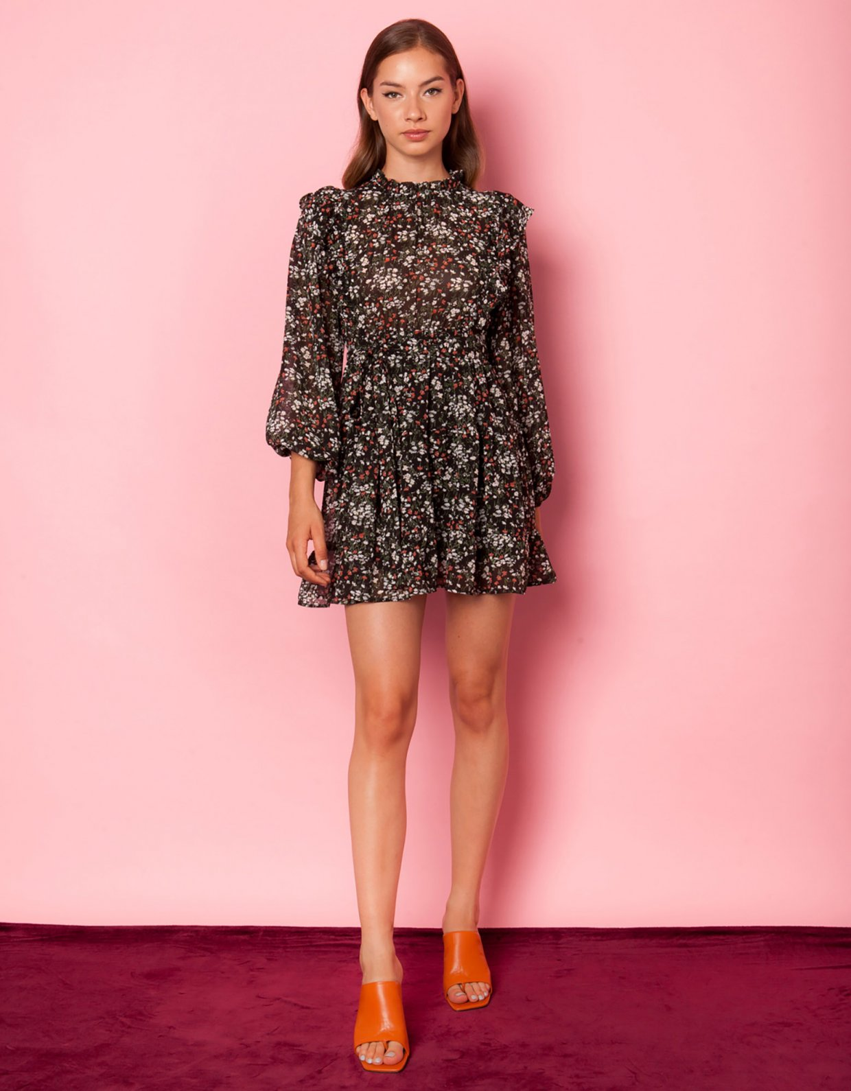 Mallory the label Key to my heart floral dress