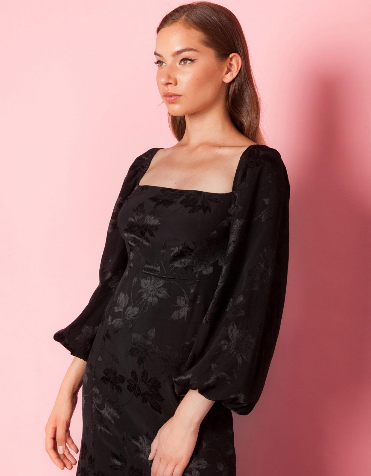 Mallory the label Bleeding heart black dress