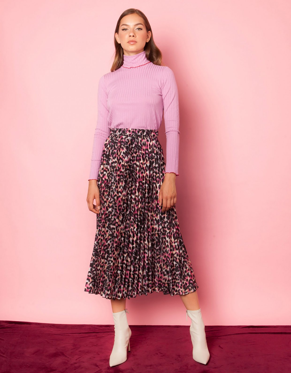Mallory the label Iris animal print skirt