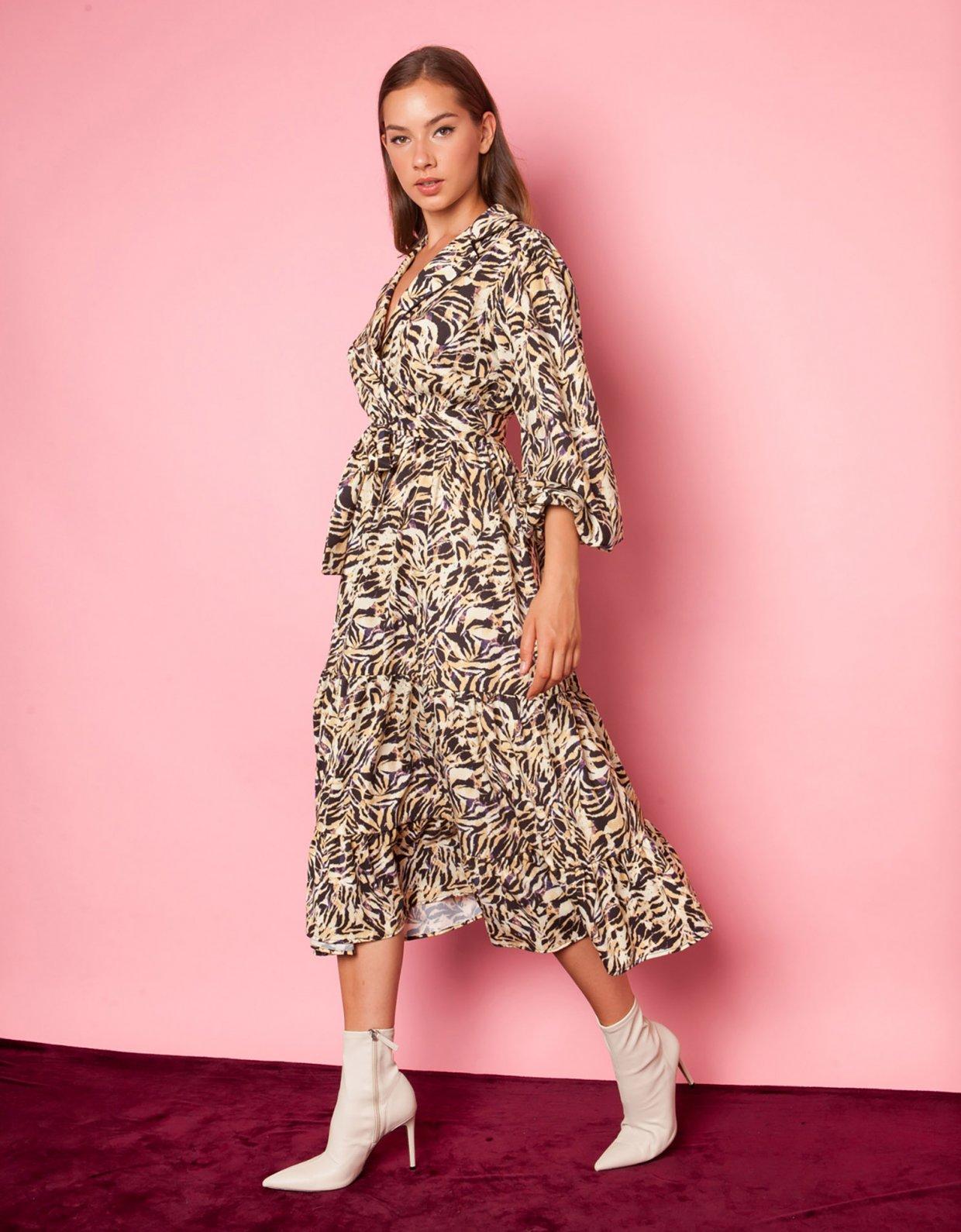 Mallory the label Dahlia zebra dress