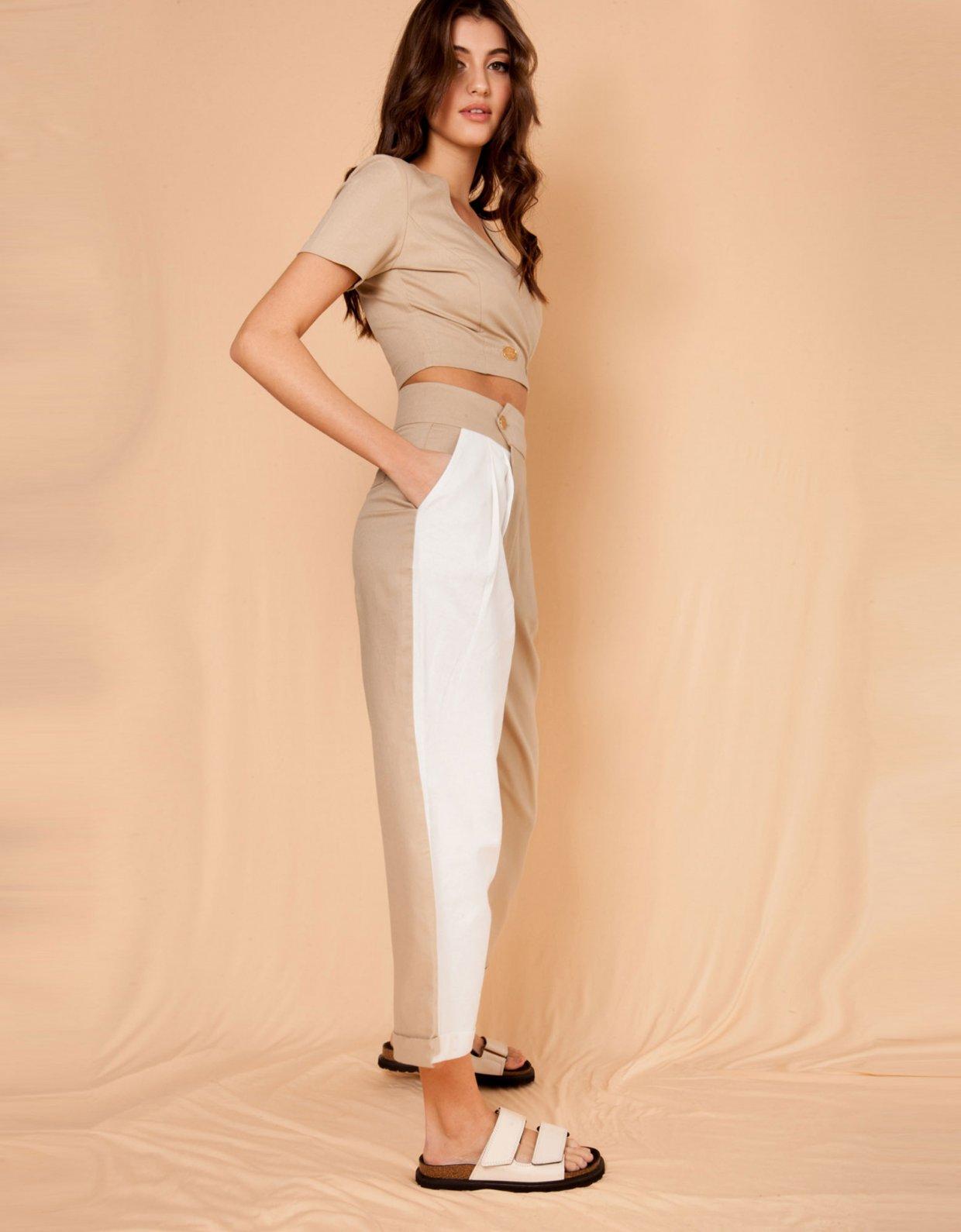 Mallory the label Campari camel pants