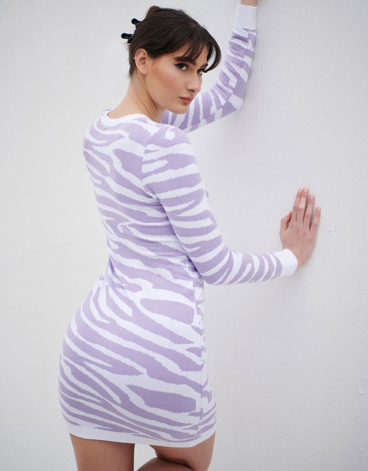 Combos Knitwear Combos S15 – Purple zebra dress
