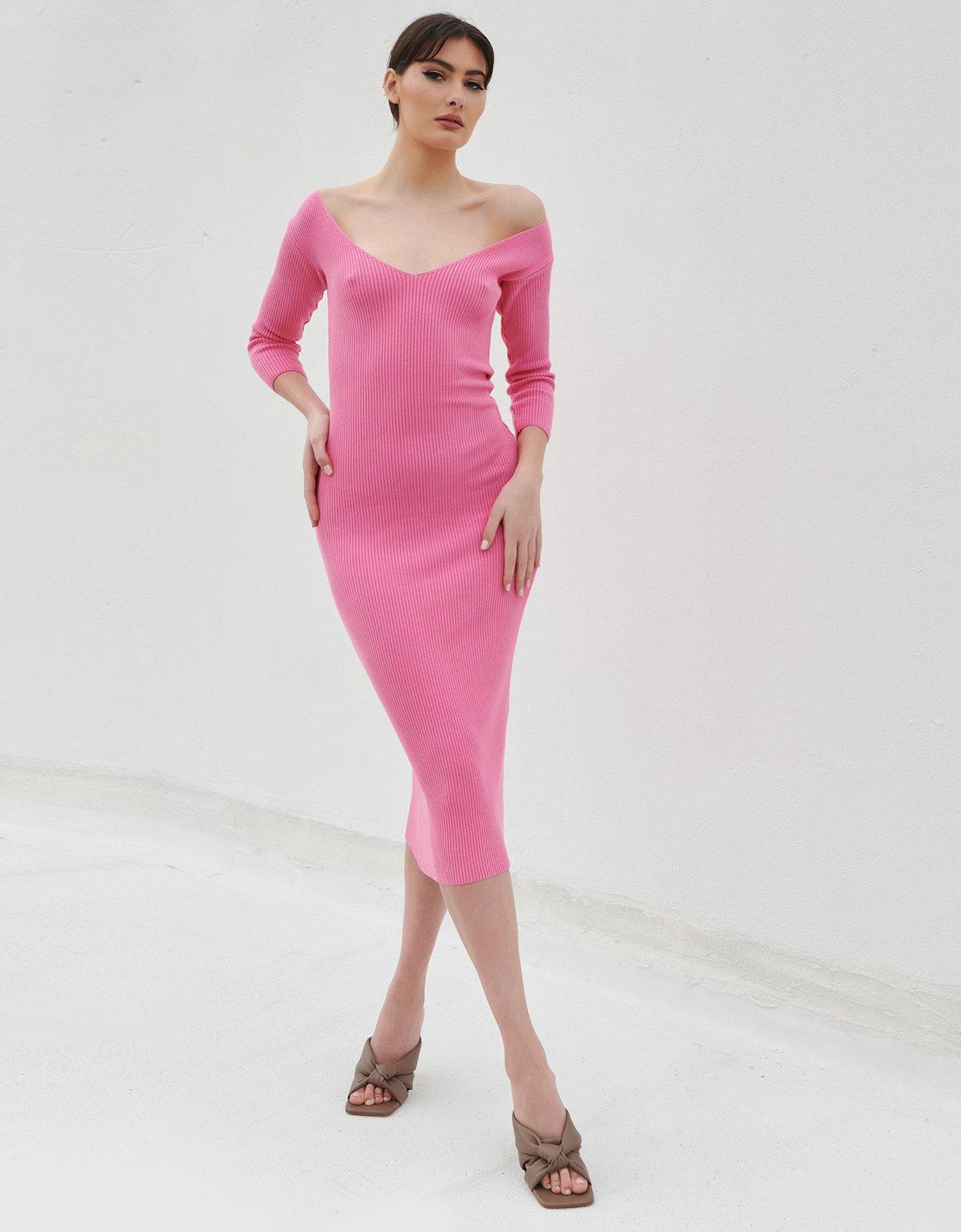 Combos Knitwear Combos S18 – Pink midi dress 3/4