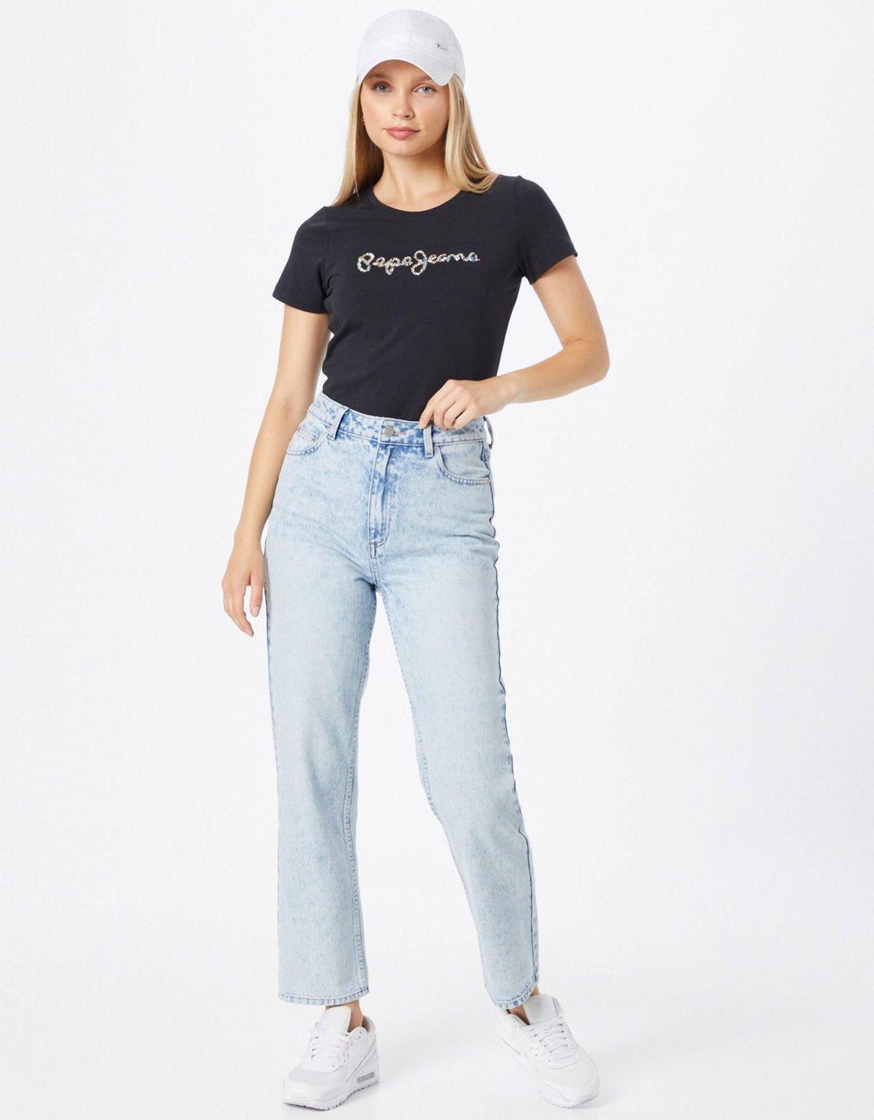 Pepe Jeans Dorita strass t-shirt black