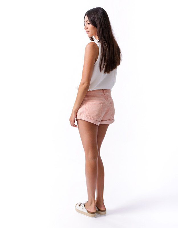 Salt & Pepper Tanya pink shorts