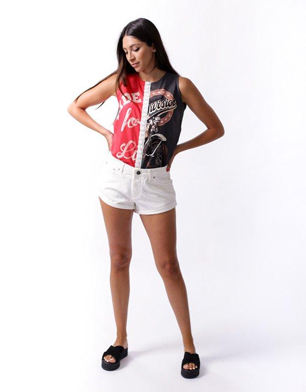 Salt & Pepper Tannya off white shorts