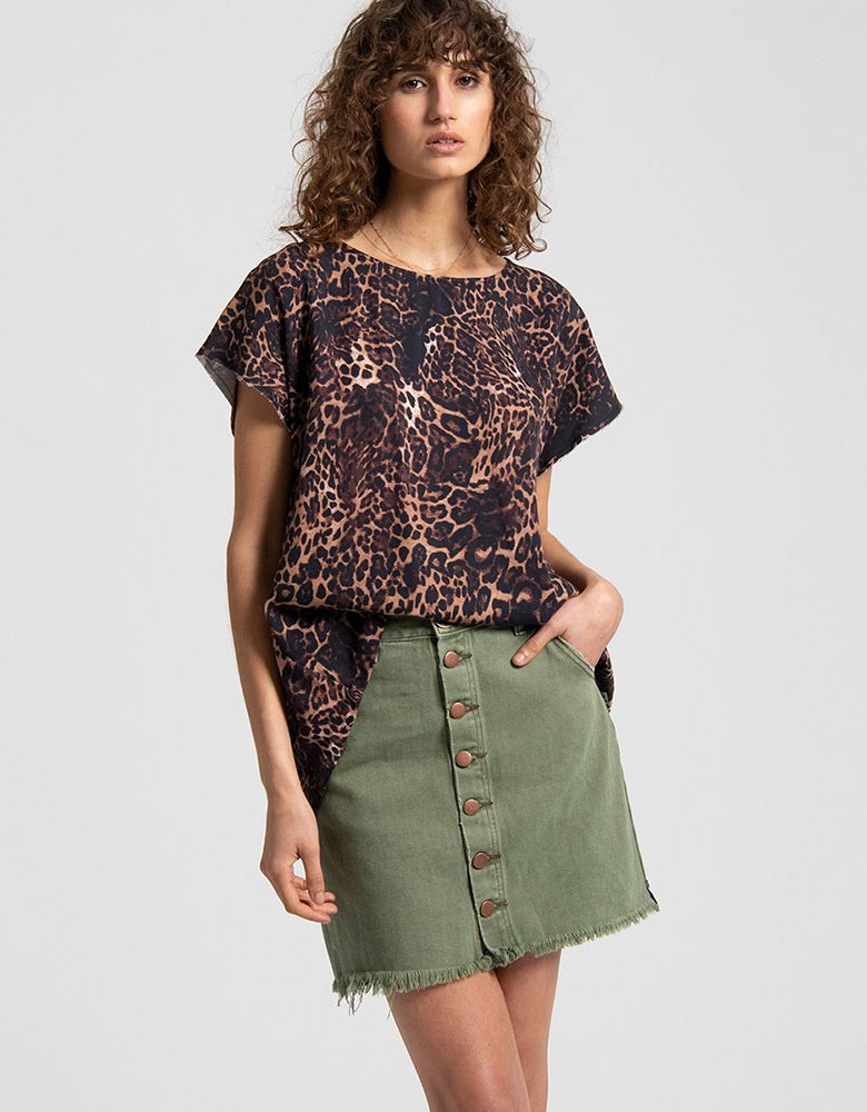 Oneteaspoon Big cat leopard top