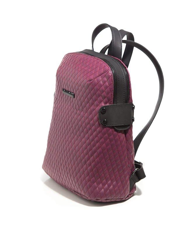 Elena Athanasiou Biker raspberry backpack