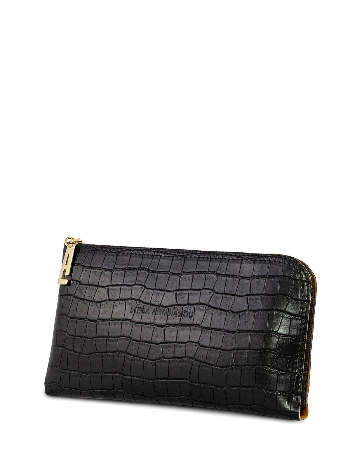 Elena Athanasiou Clutch bag black croco