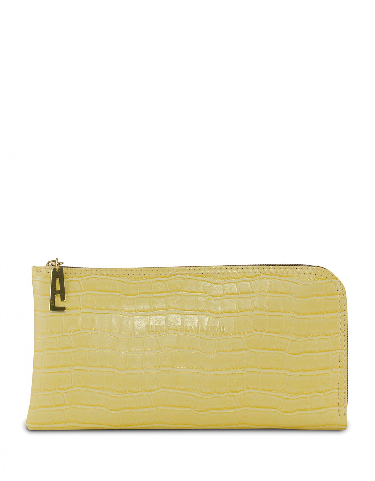 Elena Athanasiou Clutch bag lemon croco
