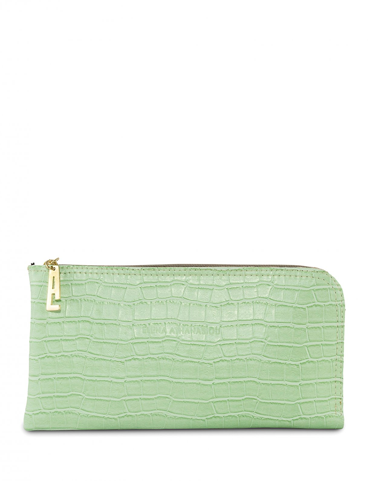 Elena Athanasiou Clutch bag mint croco