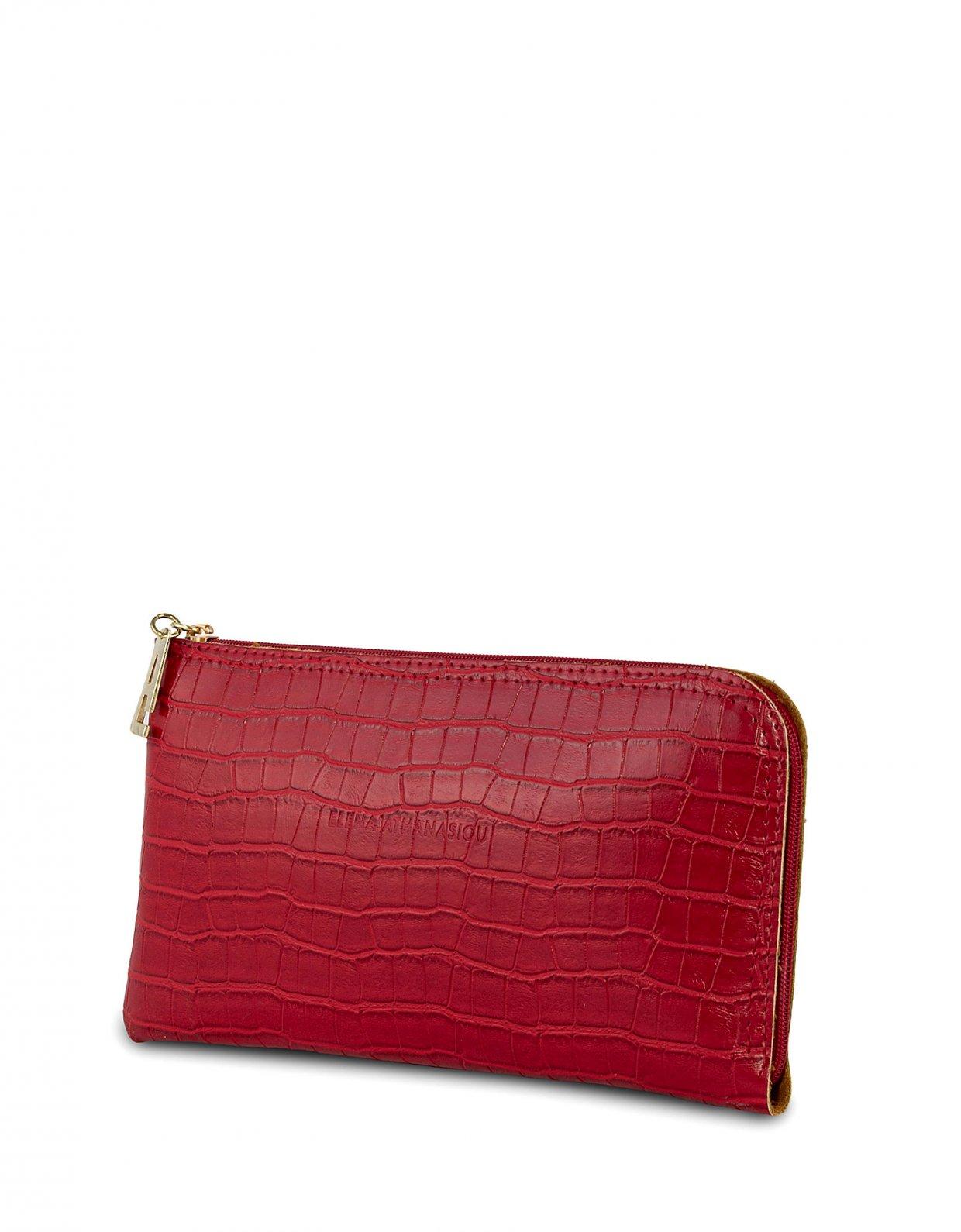 Elena Athanasiou Clutch bag red croco