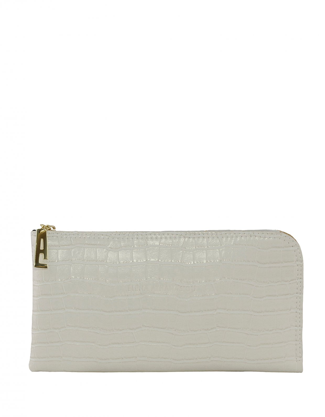 Elena Athanasiou Clutch bag white croco