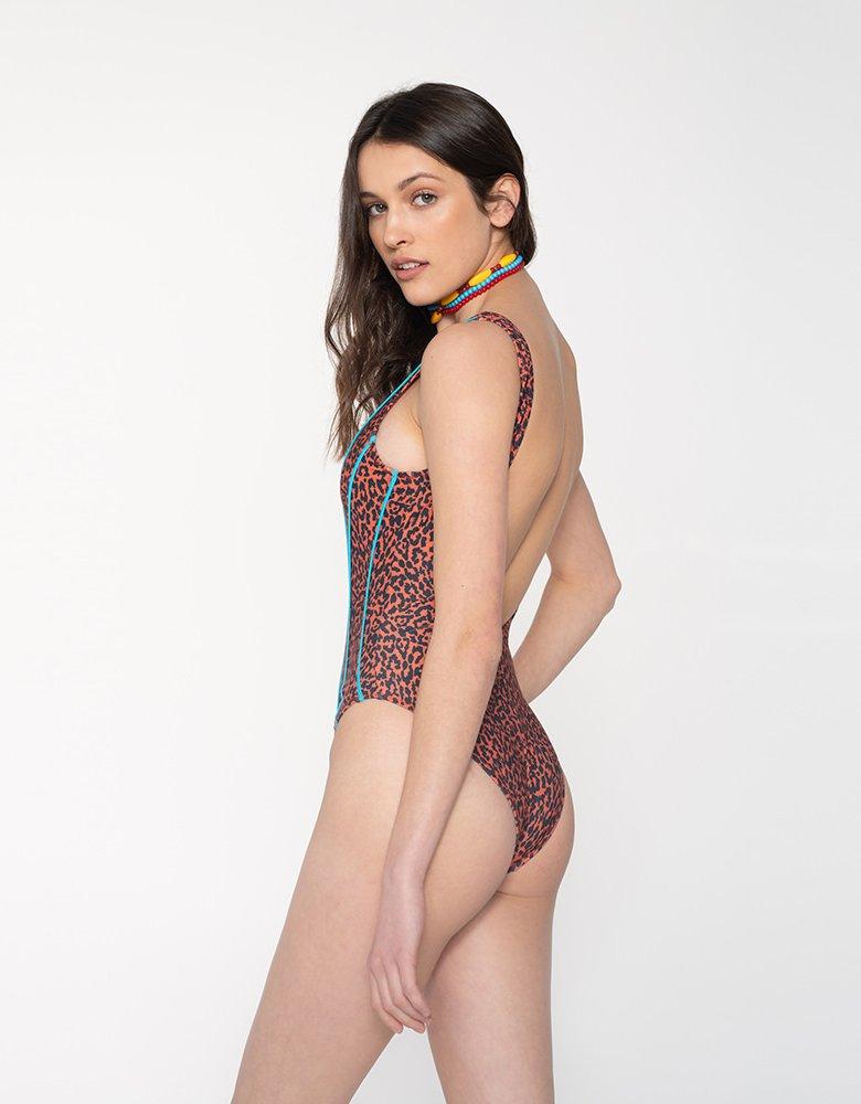 Sunset go Jane swimsuit leopard/aqua