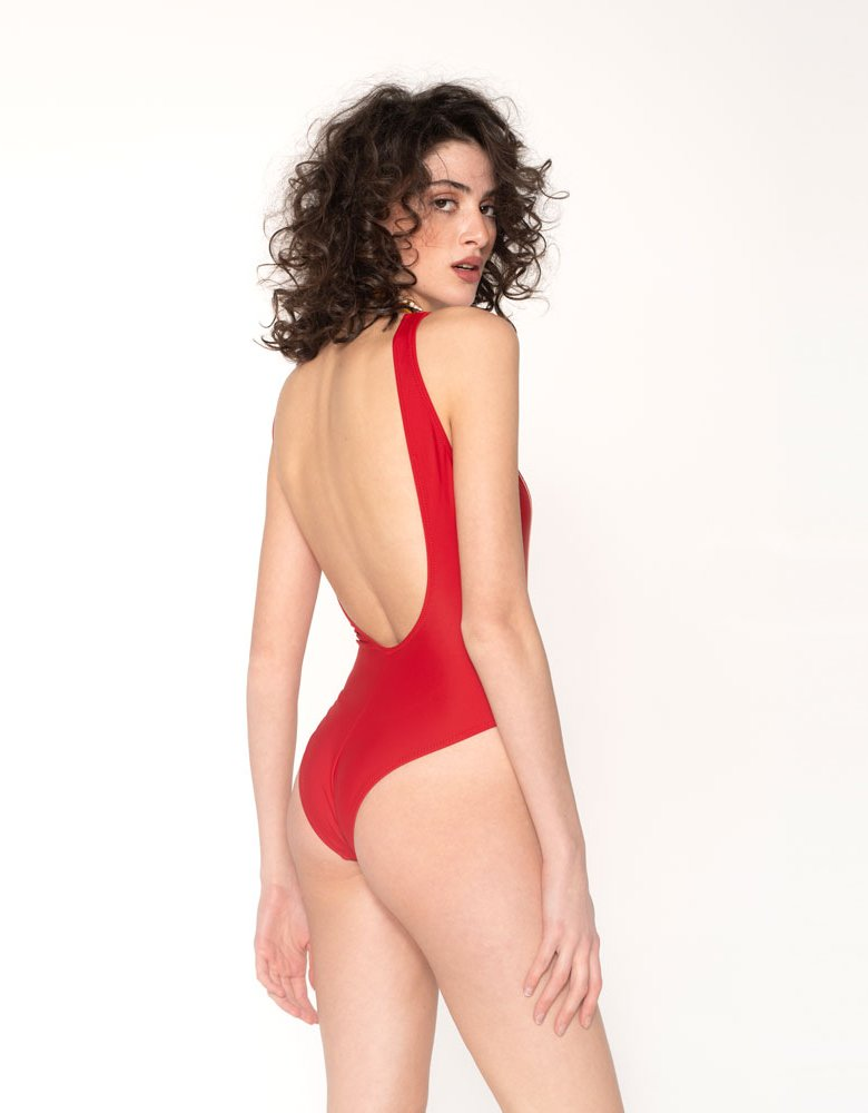 Sunset go Jane swimsuit red/powder