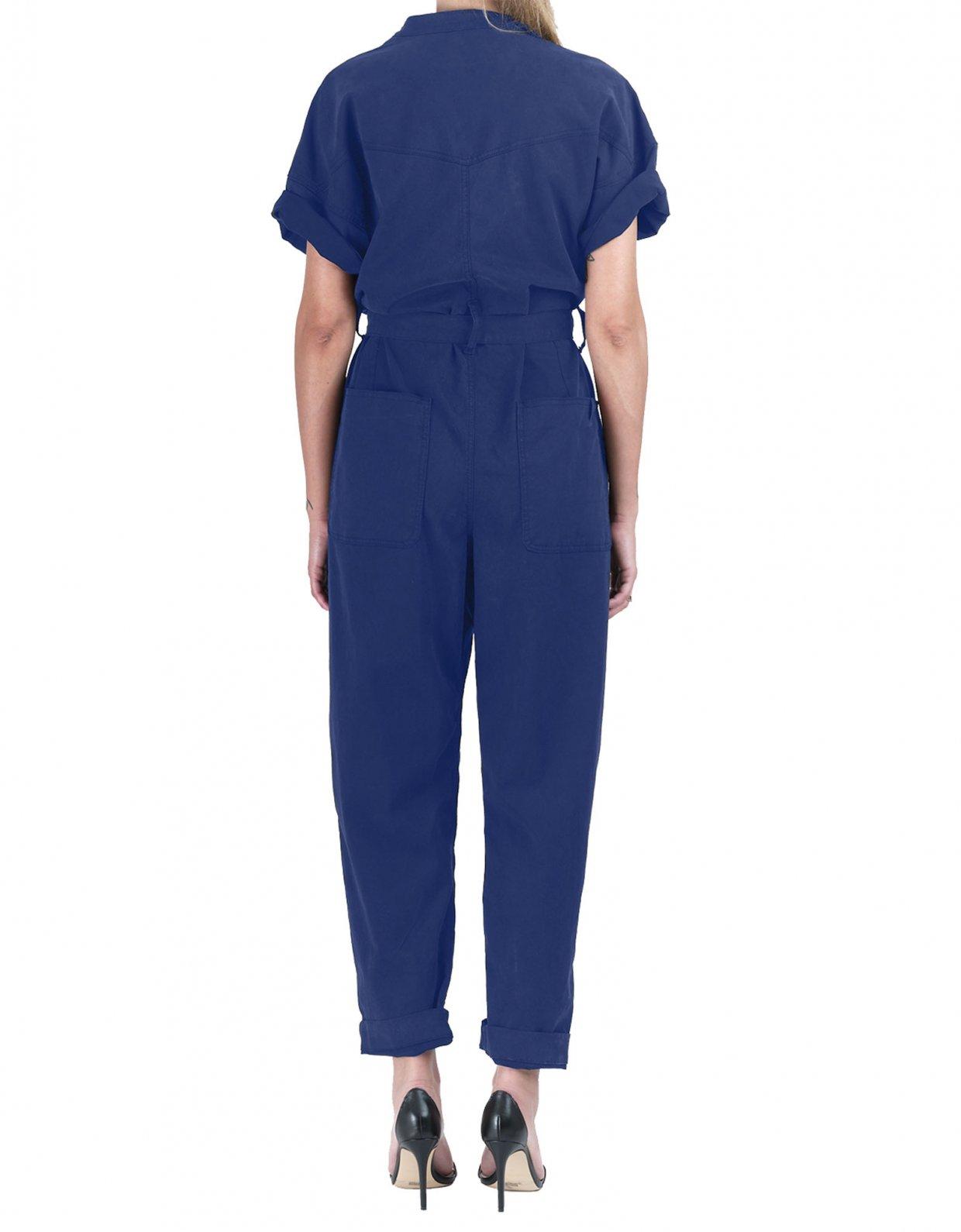 Salt & Pepper Frida nightime blue denim overalls