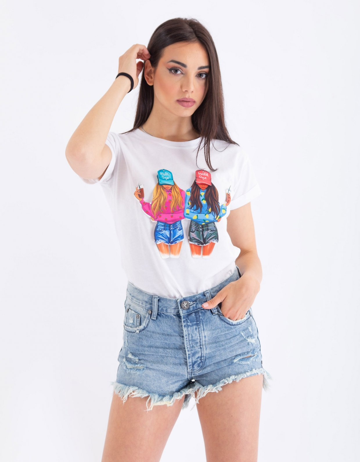 Ripped Cotton Wild one t-shirt