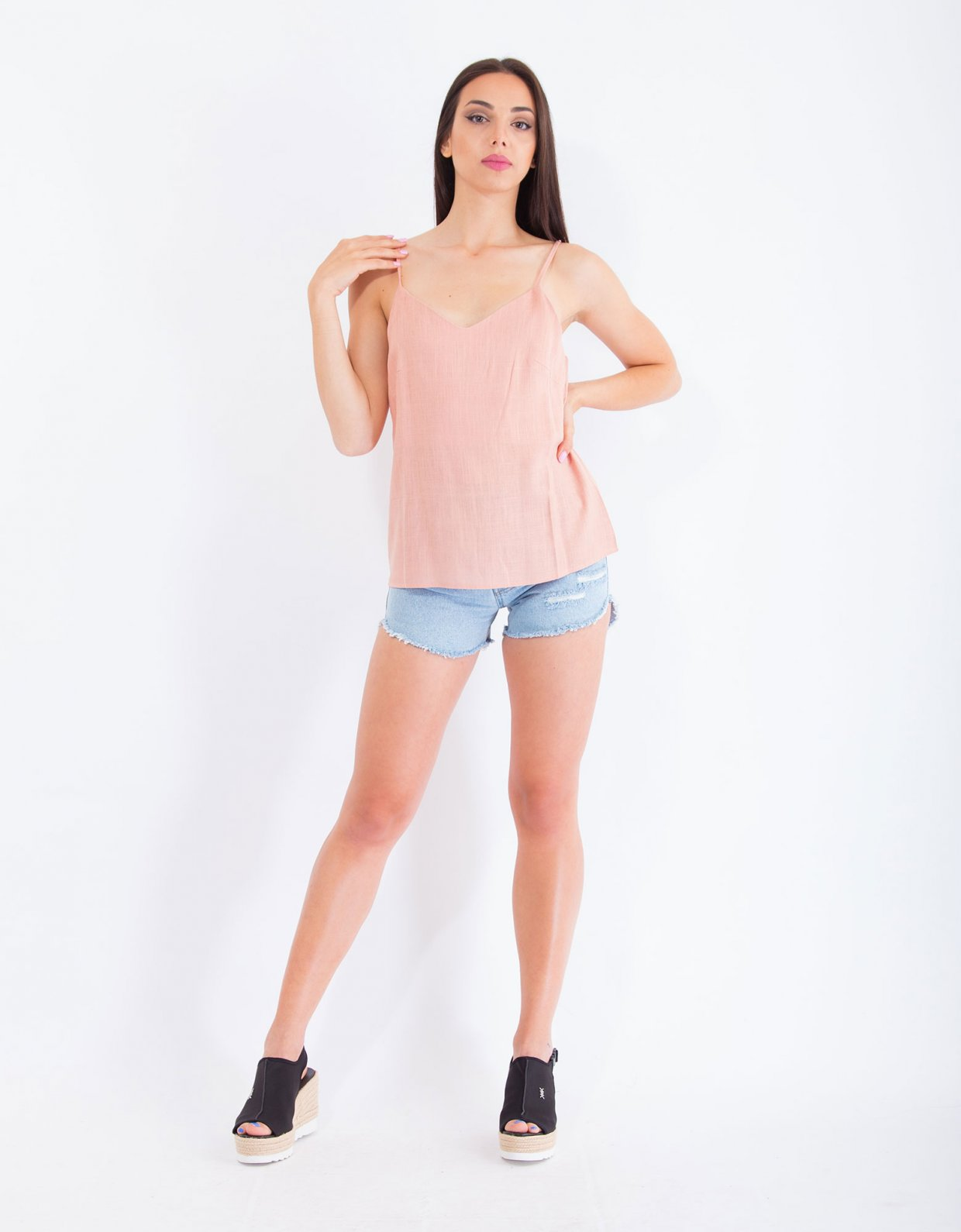 ANGELEYE Cecilia dusty pink top