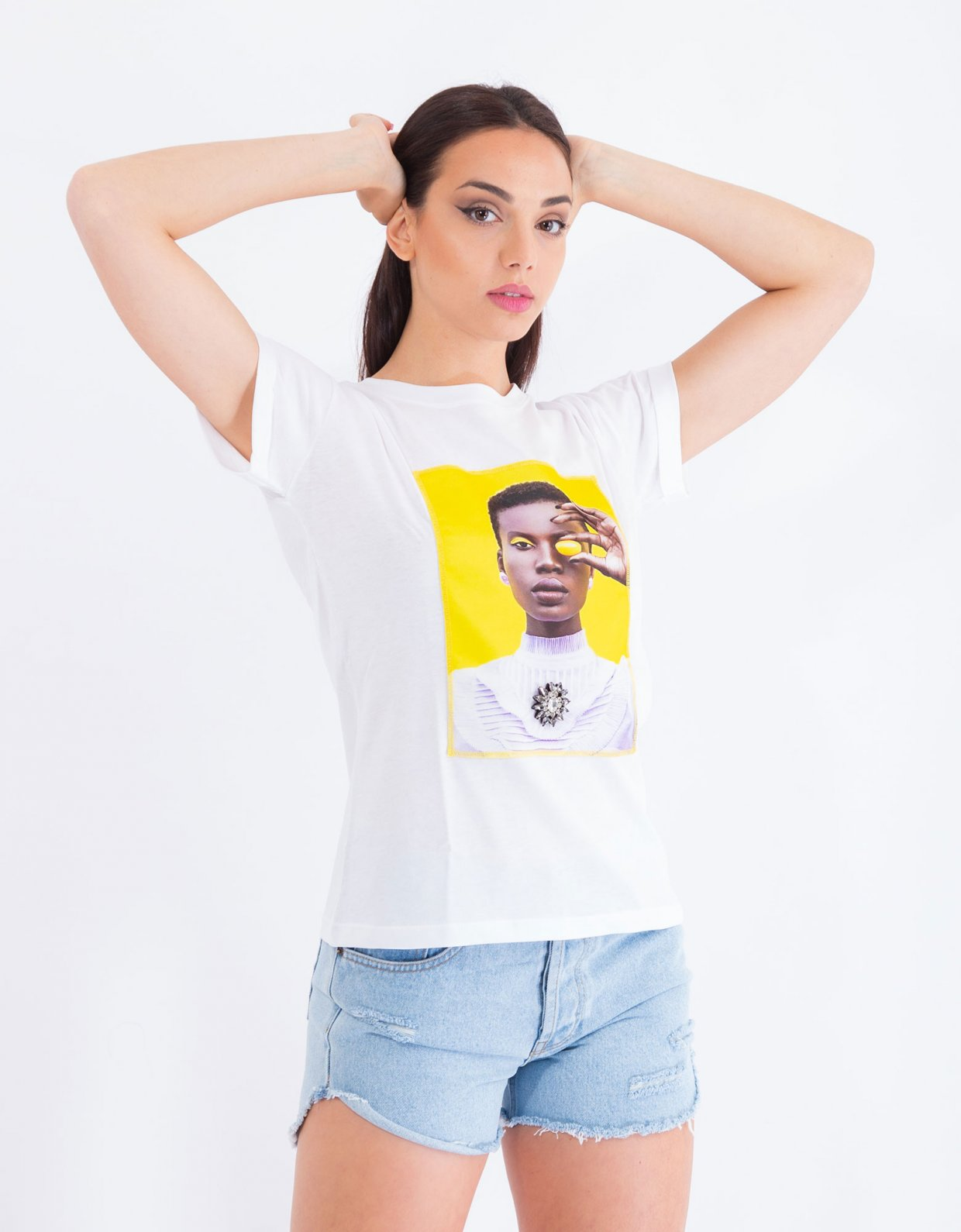 Ripped Cotton Yellow grape t-shirt