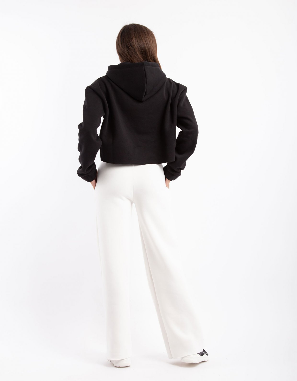 Kendall + Kylie Active high waist flare sweatpants off-white