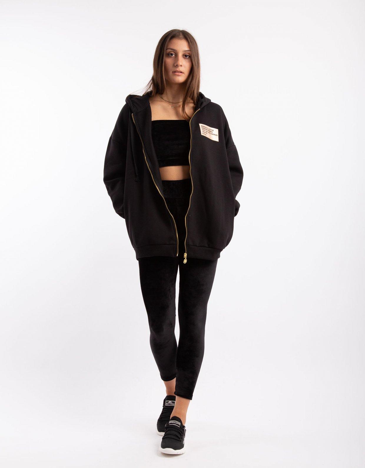 Kendall + Kylie Active oversized hoody zipper black