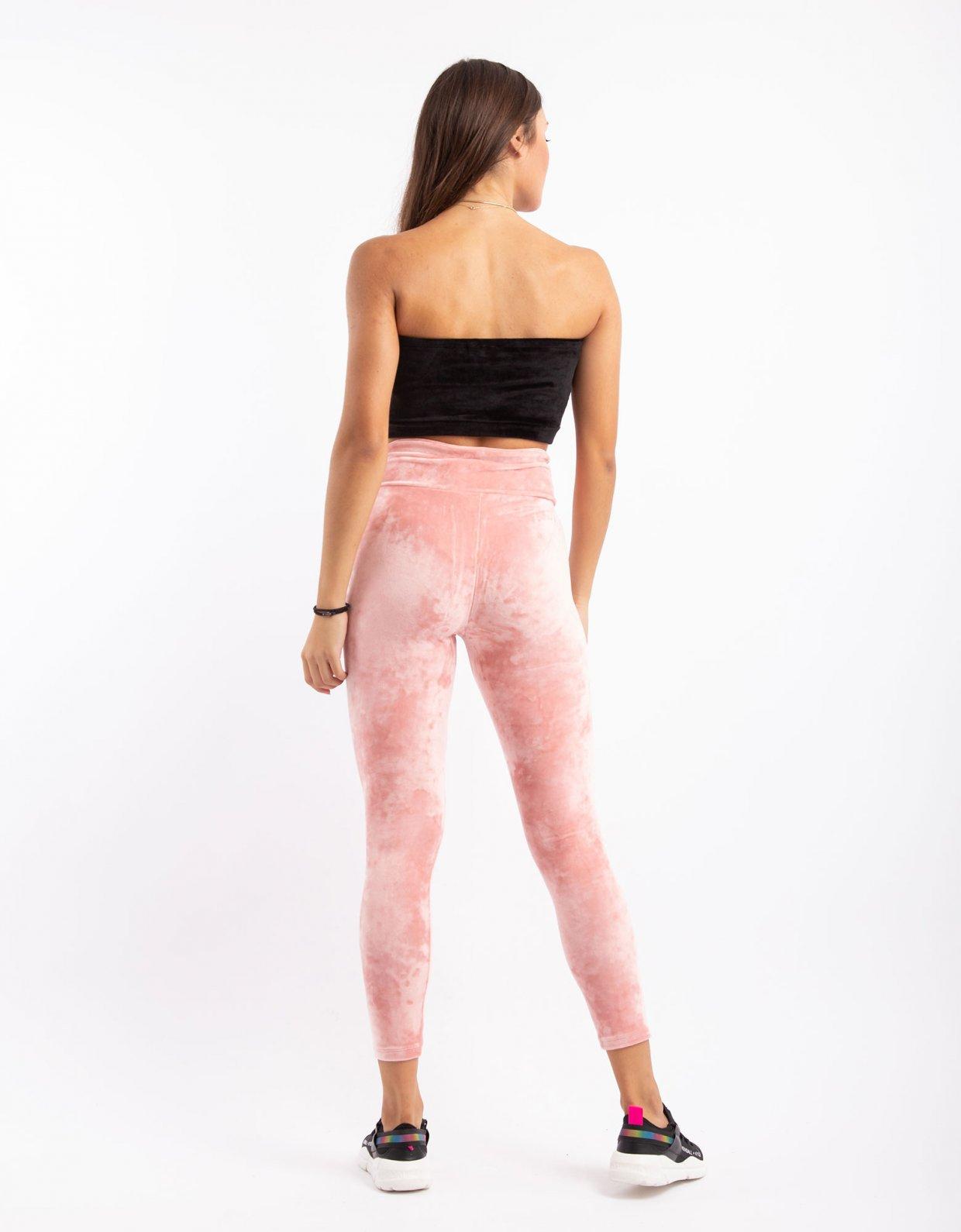 Kendall + Kylie Active velvet leggings dusty pink