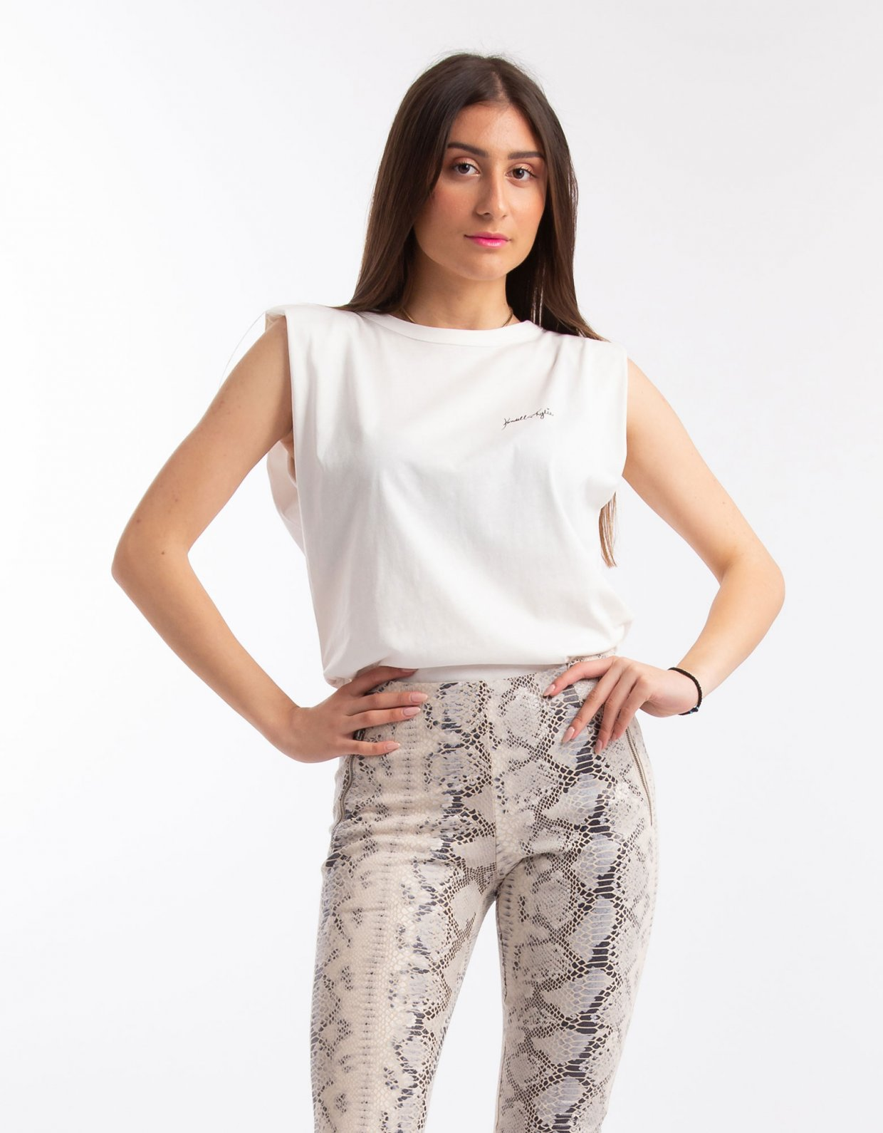 Kendall + Kylie Leggings with notched cuff