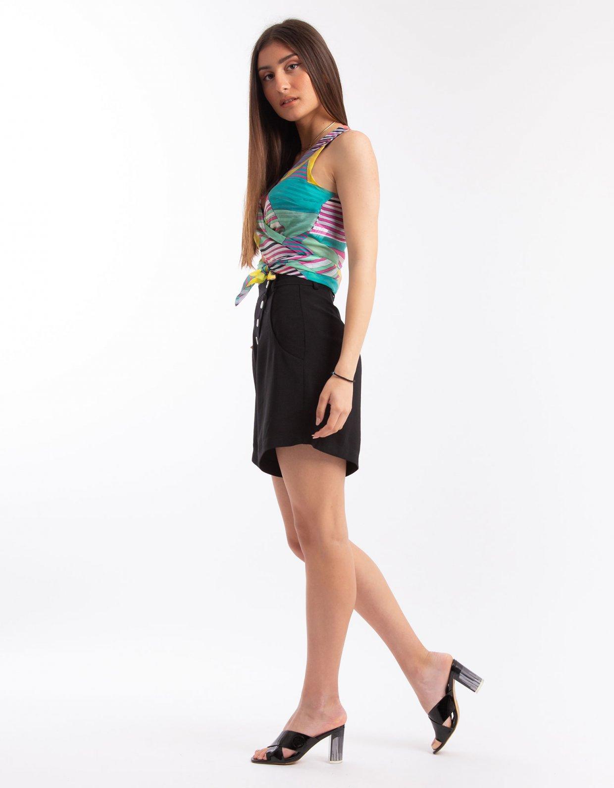 Nadia Rapti Shades of Sahara black shorts