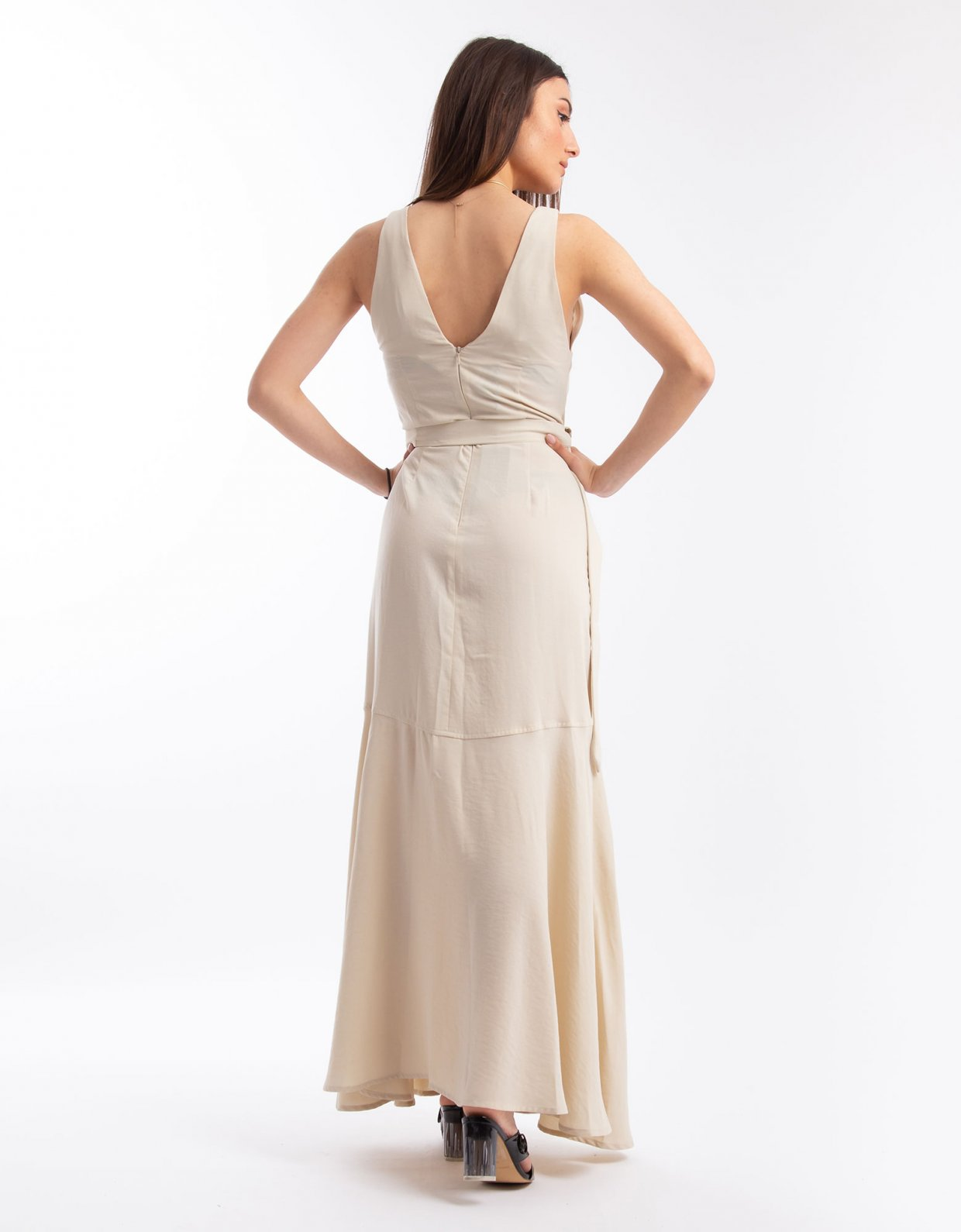 Nadia Rapti Shades of Sahara beige dress