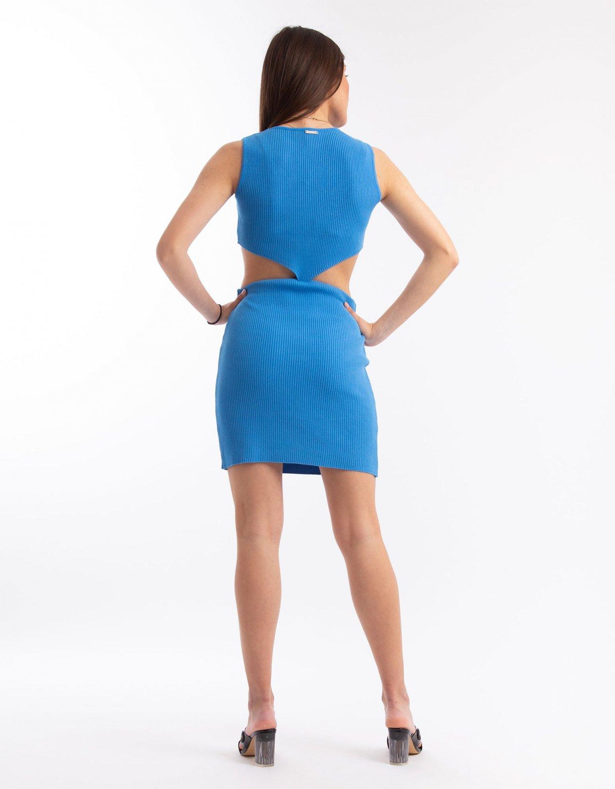 Combos Knitwear Combos S20 – Blue mini dress