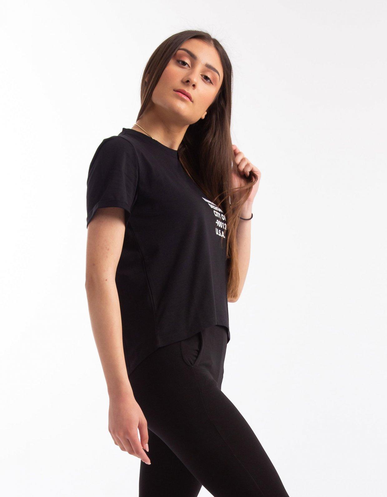 Kendall + Kylie Classic logo t-shirt black