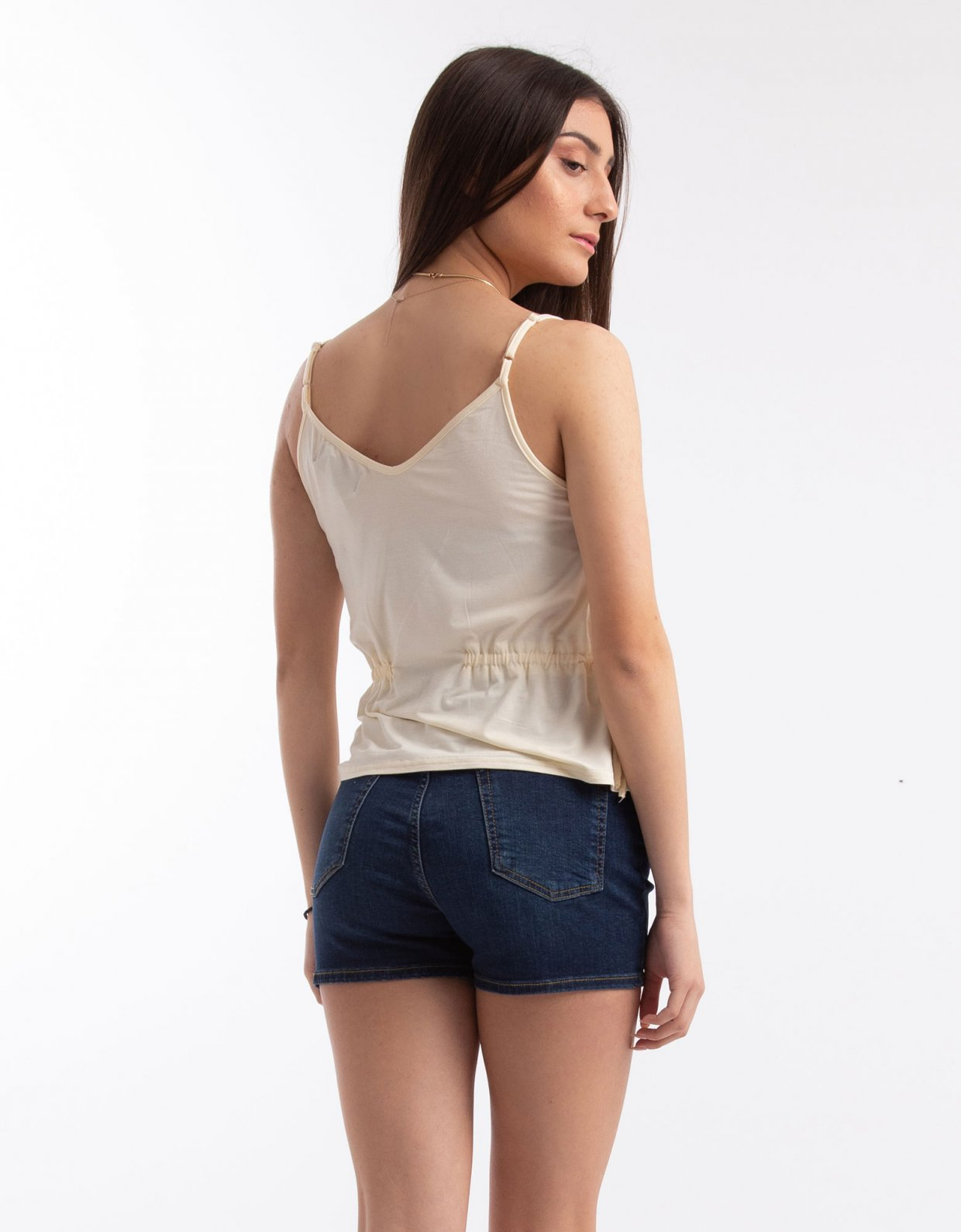 Kendall + Kylie Cami top with drawstring waist