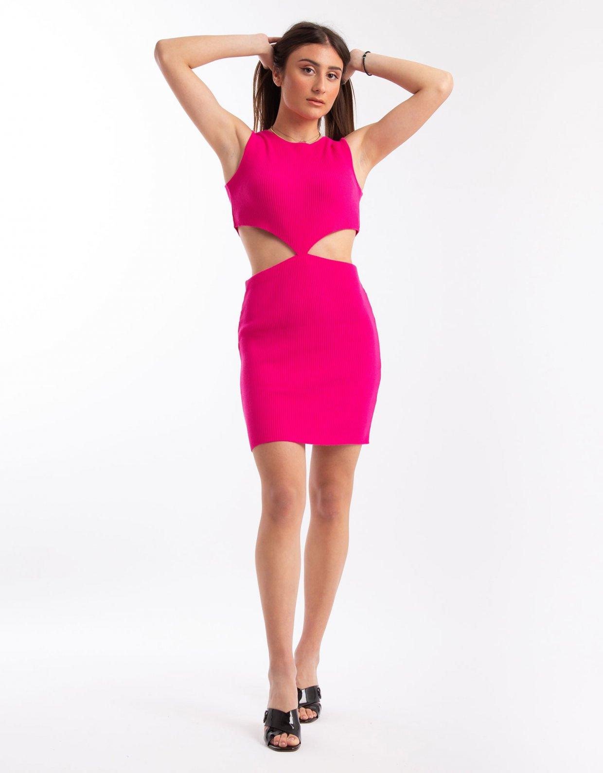 Combos Knitwear Combos S20 – Fuchsia mini dress