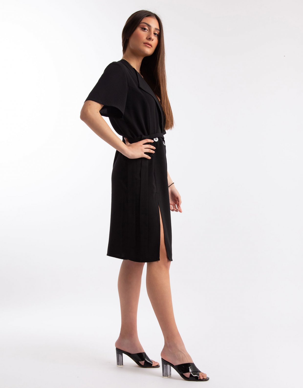 Nadia Rapti Shades of Sahara black suit/dress