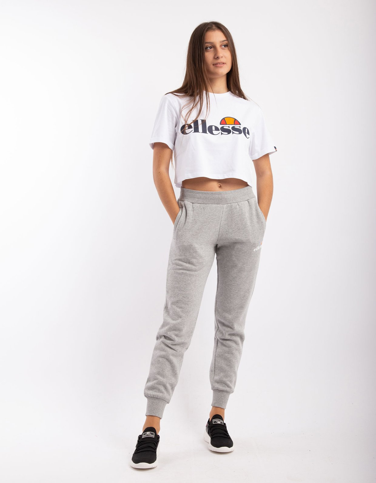 Ellesse Hallouli jog pants grey marl