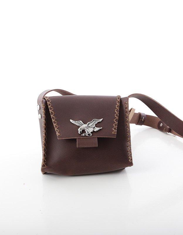 Individual Art Leather Birds set free brown bag