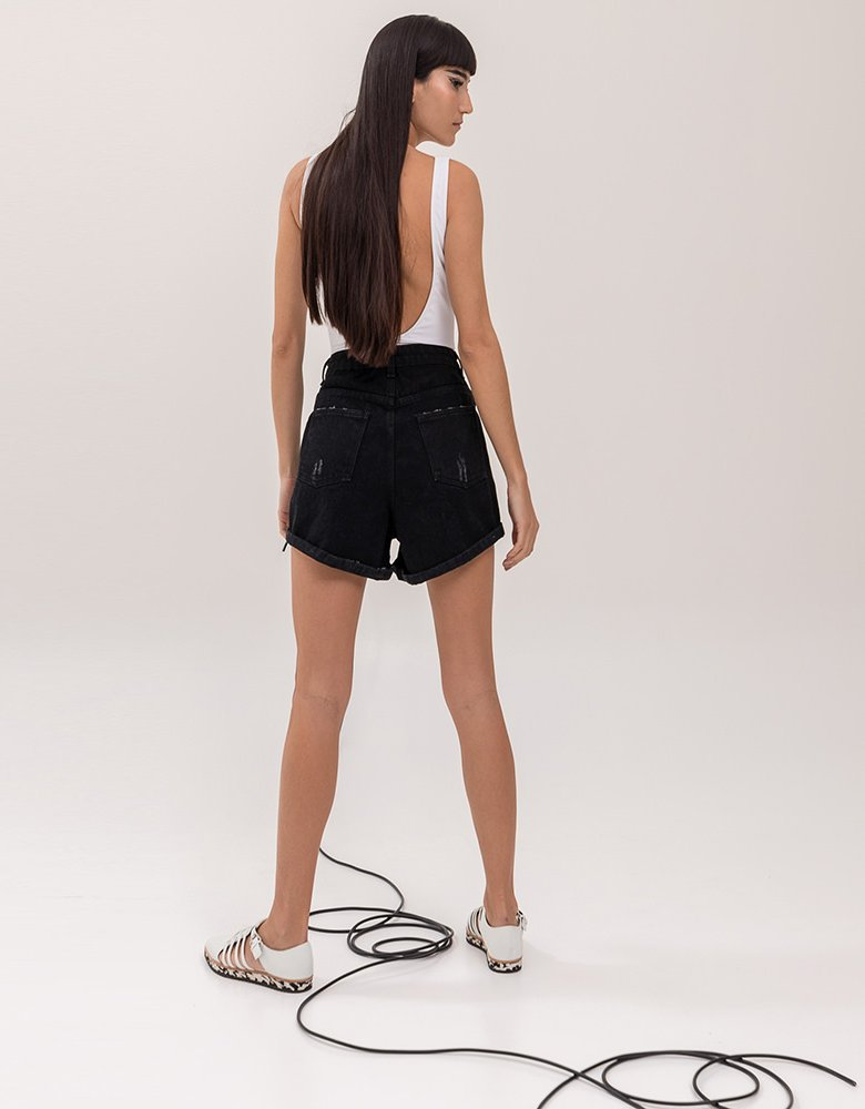 The Knl's Maiden black shorts