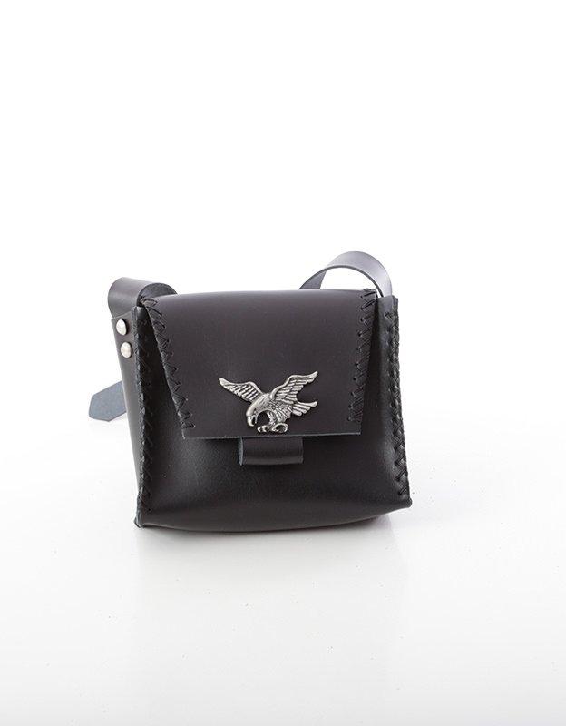 Individual Art Leather Birds set free black bag