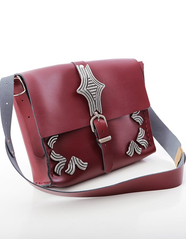 Individual Art Leather Your anchor burgundy bag