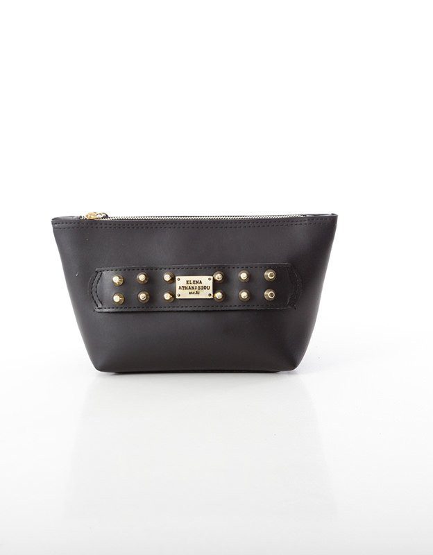 Elena Athanasiou Boho clutch bag black
